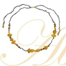 Caramel Candy Resin & Cloth Necklace - Lalo Orna's Can Can Collection