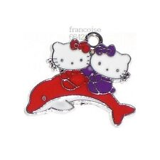 1 BRELOQUE CHARM PERLE / HELLO KITTY DAUPHIN ROUGE / CREATION BIJOUX BRACEL#HK18