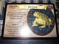 HARRY POTTER TRADING CARD GAME TCG PET TOAD 61/116 UNCO ENGLISH MINT