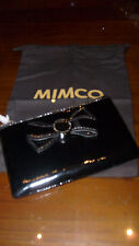 MIMCO AUTHENTIC 100% MIM BOW LEATHER POUCH--BNWT & DUSTBAG