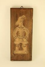 Antique Primitive Carved Wood Hand Made Dutch Cookie Mold Speculaas Panel Small