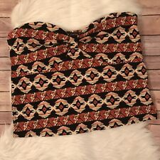 Forever 21 Plus Aztec Crop Tube Top Size 3X