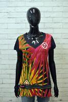 DESIGUAL Donna Polo Maglia Taglia L Camicia Maglietta Shirt Women Cotone Hemd