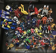 Huge Lot of Vintage Action Figures Power Rangers Transformers Weapons & More