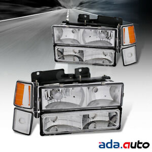 1994 1995 1996 1997 1998 Chevrolet Silverado/Tahoe/Suburban Chrome Headlights