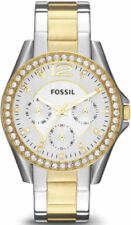 FOSSIL Ladies Stainless Steel Two-Tone Crystal ES3204