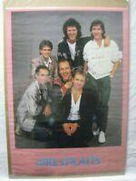 DIRE STRAIT BRITISH ROCK VINTAGE POSTER GARAGE 1985 CNG831