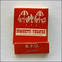Spaghetti Theatre Restaurant and Coffee Lounge BYO 185 Collins Matchbook (MK73)