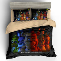 3D Five Nights At Freddy's Bedding Set 3PC Duvet Cover & Pillowcase 4 Sizes