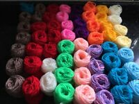 Yarn Wool Job Lot Knitting Crochet Squares Pompom Crafts Toys DK MIXED BALLS