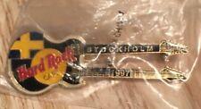 Hard Rock Cafe Stockholm 1997 Black Flag Doubleneck guitar pin