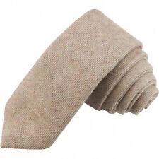 Country Brown Mens Tweed / Wool Skinny Tie. Excellent Quality & Reviews. UK.