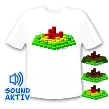 3D LED-Shirt für DJ Club Disko Nightlife - Equalizer Shirt led fashion musik neu