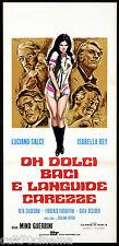 OH DOLCI BACI E LANGUIDE CAREZZE LOCANDINA CINEMA FILM SEXY ITA PLAYBILL POSTER