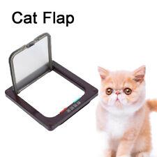 New ListingLockable Pet Cat Flap Door 4 Way Magnetic Safe Flap Gate Small Puppy Dog Us