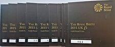 2015 £5 GOLD PROOF ROYAL BIRTH CHARLOTTE BIRTH COA ONLY