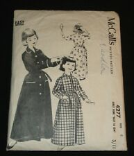 VINTAGE PATTERN 1950S MCCALL'S 4277 CHILDS DRESSING GOWN / ROBE