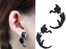 1 x Pair Black Cat earrings Ear Ring Earring FREE Aussie Post*