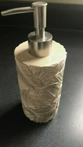 DestinationsPalm Wood Lotion Dispenser Pump Ivory Bath Kitchen