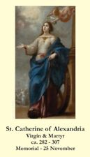 St Catherine of Alexandria Prayer CARD (wallet size)