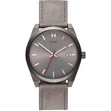 MVMT Men's Radium Element Gray Genuine Leather Strap 43mm Watch 28000042-D