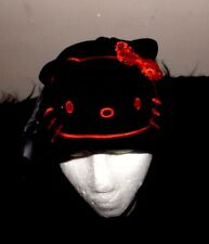 Hello Kitty headphones winter cap music stretch black and bright red new Sanrio