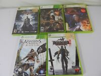Lot of 5 Xbox Video Games Includes Assassins Creed IV Black Flag and More Games