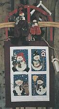PATTERN Primitive Snowman Dolls & Snowman Wall Quilt UNCUT OOP Once Upon A Vine