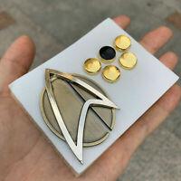 Star Trek Picards Combadge Rank Pips Set Befehl Science Engineering Pin Brosche