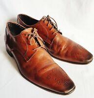 Harry Rosen CuoioVero Brogue Chesnut 4 eyed Oxford Laceup Dress Shoe-11US 44.5EU