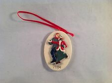 Sebastian Miniature Sml-640A Victorian Christmas Skaters Ornament -Hudson Signed
