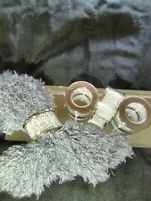 New listing Silver and acrylic napkin rings 4 pc set 2 inches wide 1 inch high