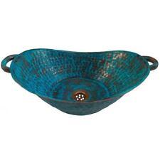 Rustic Aged Green Copper Bathroom Sink Basin Bathtub Boat Canoe Washbasin Bowl