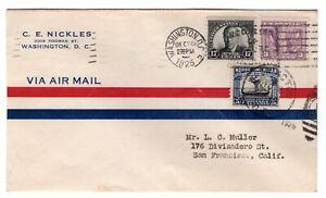 #623 Woodrow Wilson 17c FDC 1925 Washington DC - Nickles Combo