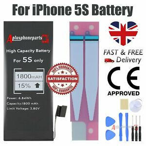 For iPhone 5s Battery Replacement  Premium CE Higher Capacity 1800mAh +Tool Tape