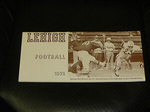 1972 LEHIGH (PA) COLLEGE FOOTBALL MEDIA GUIDE   EX-MINT  BOX 11