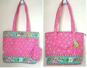 MaggiB Quilted French Country in Lillies Pink! Iconic Day Tote or Everyday Tote