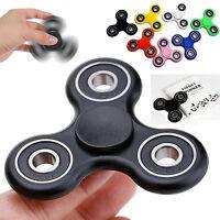 Black Tri Fidget Hand Spinner Ceramic Ball Desk Toy EDC Focus Stuffer Kids Adult