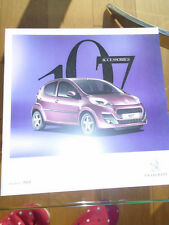 Peugeot 107 Accessories range brochure c2010