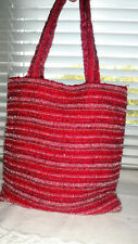 ACCESSORIZE MONSOON SPARKLY BURGUNDY, RED, PINK, BEADED EVENING BAG PURSE