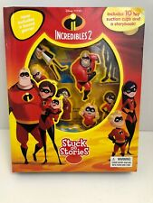 The Incredibles 2 Stuck on Stories w/ 10 Toys, Game & Storybook