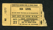Original 1978 Sea Level concert ticket stub Cleveland Allman Brothers