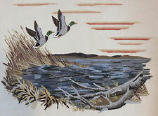 Sunset Stitchery Mallards In The Wind Crewel Wool Embroidery Kit 1971 New Sealed
