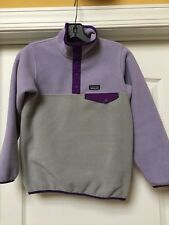 Patagonia Snap T Synchilla Kids Light Lavender & Gray Fleece Jacket , M/10