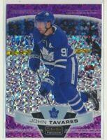 19-20 O-Pee-Chee Platinum Violet Pixels 65 John Tavares /399 Toronto Maple Leafs