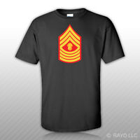 E-9 Master Gunnery Sergeant Insignia T-Shirt Tee Shirt usmc marine corps