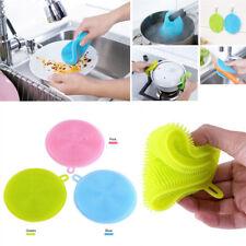 Useful Multipurpose Antibacterial Silicone Sponge Cleaning Dish Washing Kitchen#