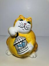 Fitz and Floyd Essentials Cash Critters Fat Cat Bank Feed The Kitty 5.5� tall