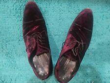Men Dolce & Gabbana D&G Runway Velvet Derby Shoes Purple Velours Size 12