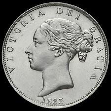 1883 Queen Victoria Young Head Silver Half Crown